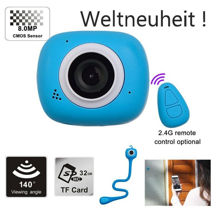 Action Cam, Dash Cam, 8MP, WiFi, Full HD, Neu