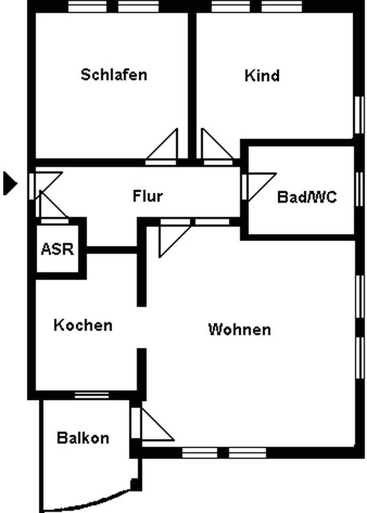 Bild 3: 3-Raum-Wohnung mit Balkon zu verkaufen!