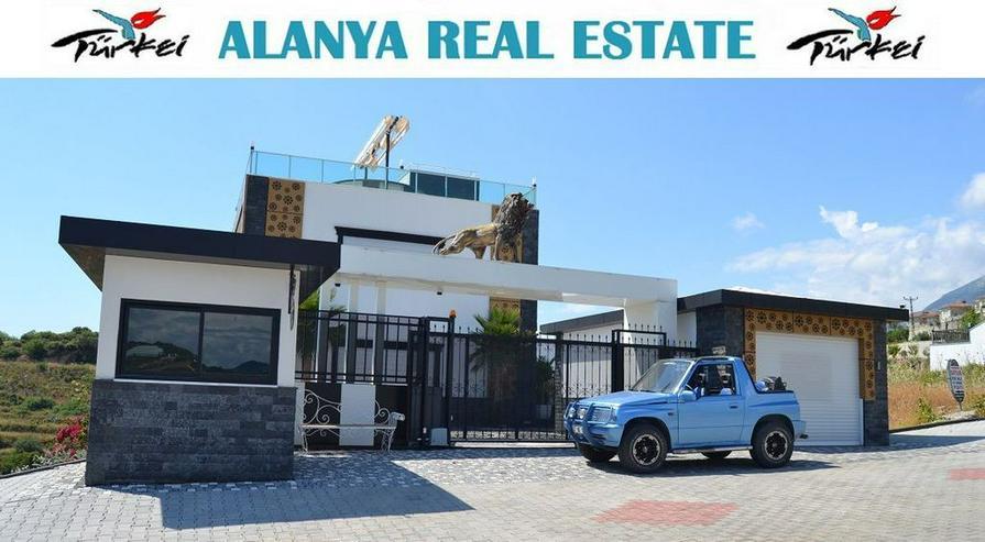 Super Luxus Villa mit privat Pool und Meerblick in Alanya Kargicak - Haus kaufen - Bild 1