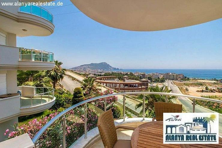Bild 2: Schön möblierte 2+1 Luxus Wohnung mit tollem Meerblick am Kleopatra Strand!