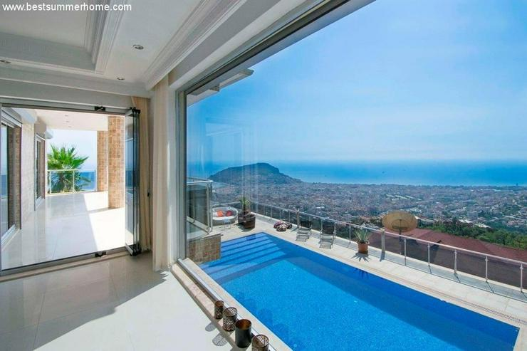 ***ALANYA REAL ESTATE*** REDUZIERT ! Traumhafte Panorama-Villa in Alanya Bektas mit privat... - Auslandsimmobilien - Bild 1