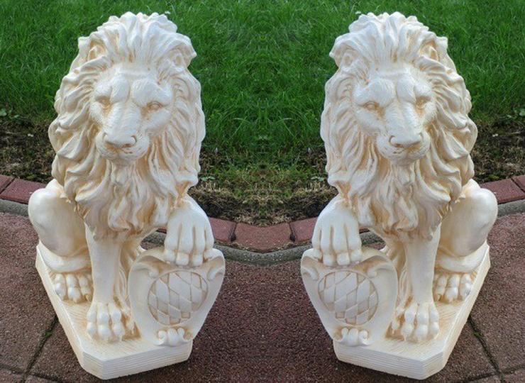 Torwächter 2 Löwen links und rechts - Figuren - Bild 1