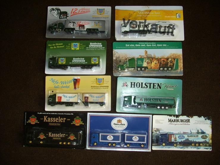 8 verschiedene Brauerei Trucks