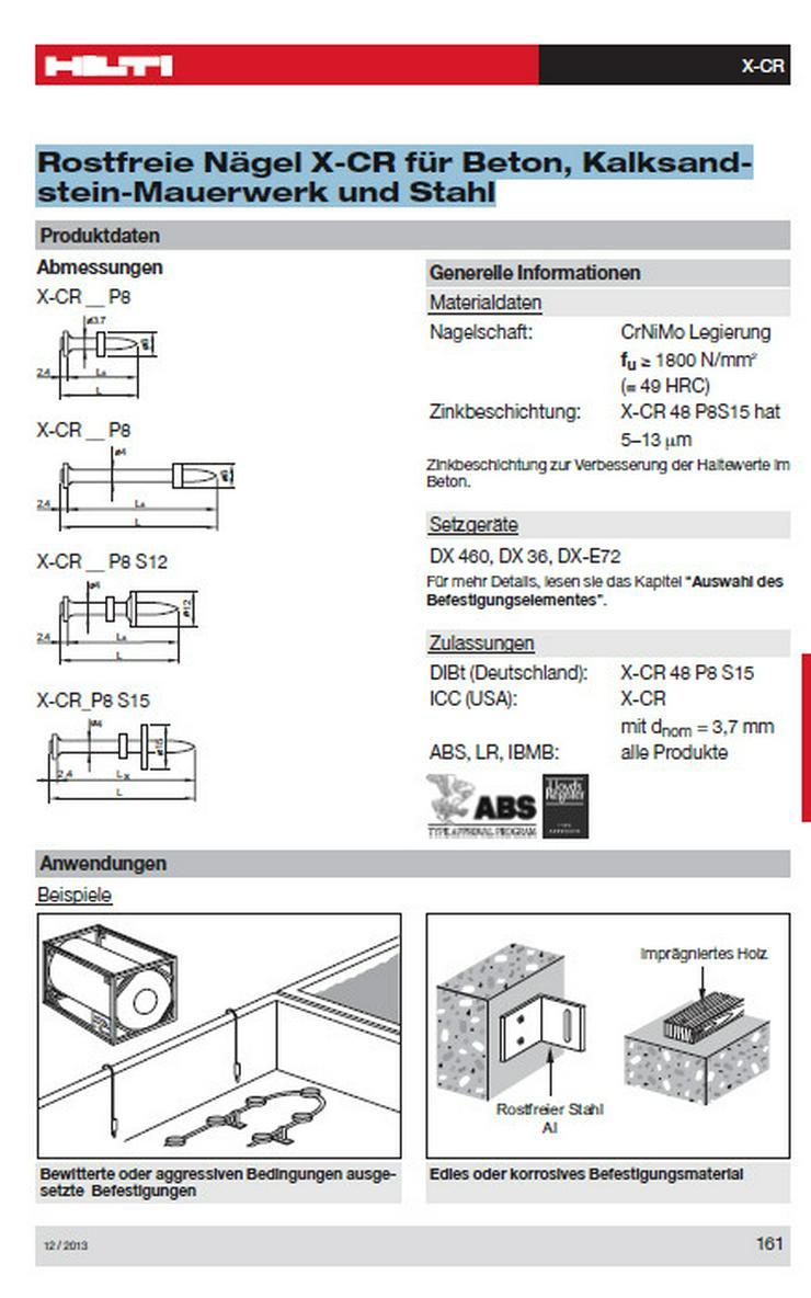 Bild 2: Hilti X-CR 39 P8 S12 Edelstahlnägel 5 Pack