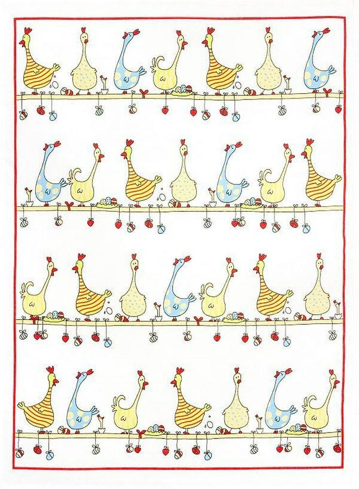 Kracht Geschirrtuch Hühner auf der Stange