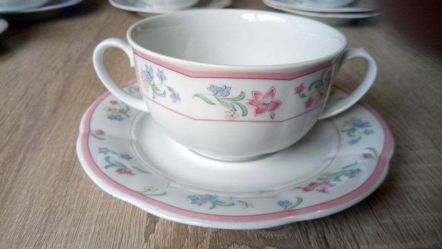 Mitterteich, sehr schönes Porzellan Tassen-Set,
