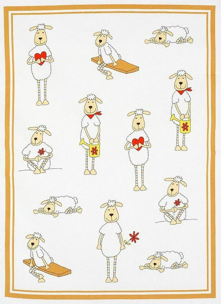 Kracht Geschirrtuch Schafe mit Herz