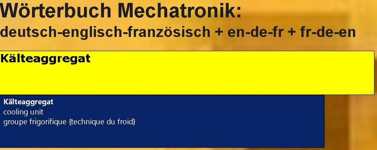 Woerterbuch franzoesisch: Kaelte-Klima-Sanitaer