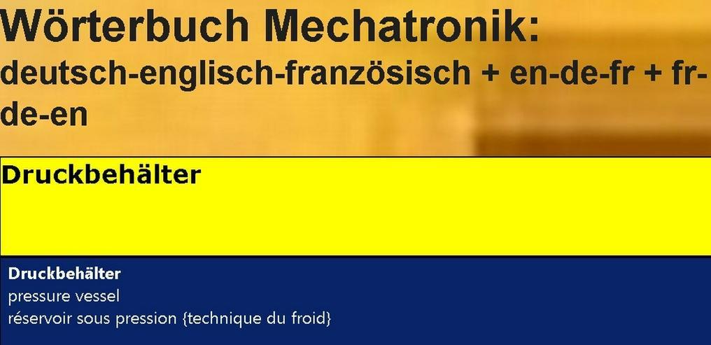 Bild 4: Woerterbuch franzoesisch: Kaelte-Klima-Sanitaer