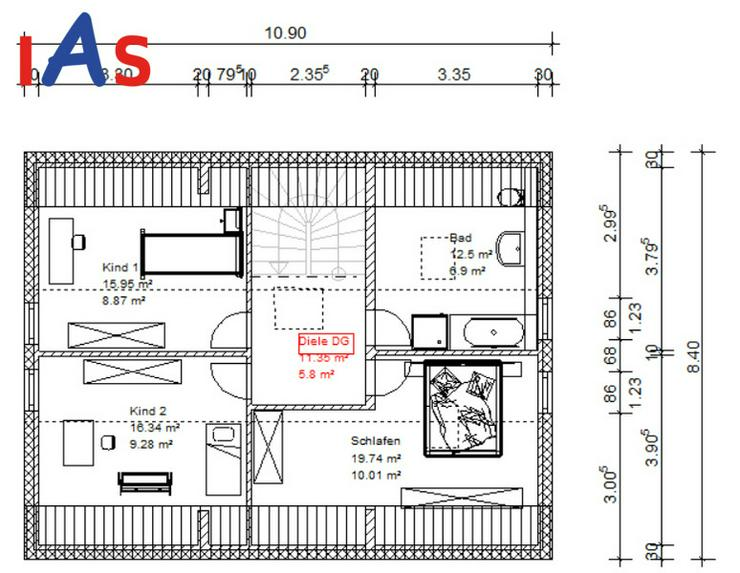 Bild 3: Neubau: Sonnig und ruhig wohnen in Randlage von Münchsmünster!