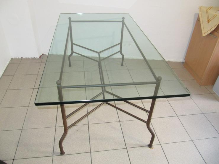 Glastisch antik