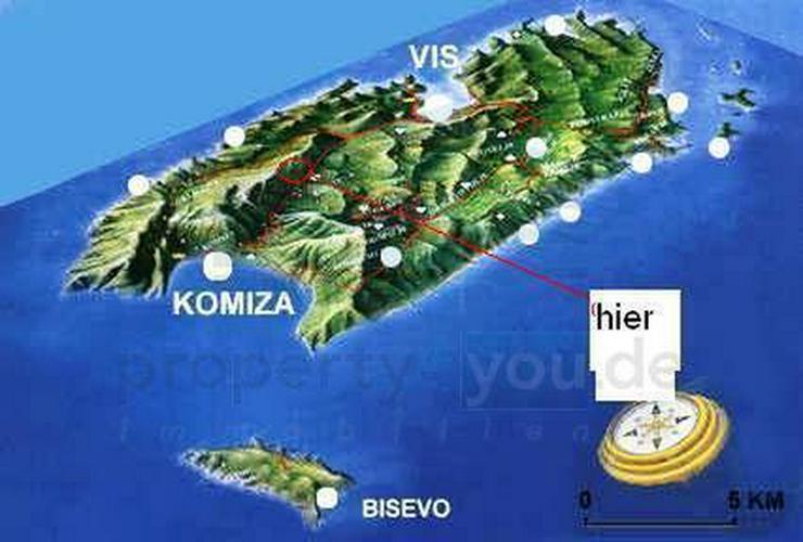 Bild 5: Kroatische Adria , Insel Vis - Wunderschönes Baugrundstück mit Anschluss zur Straße und...