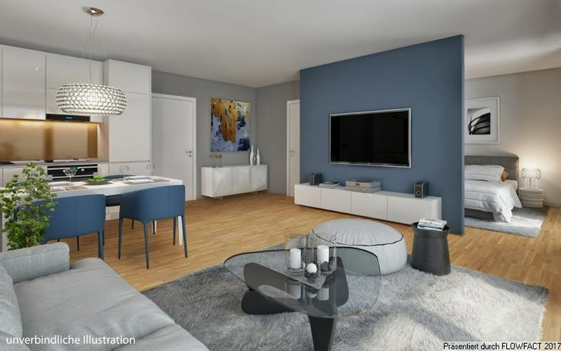 Bild 4: Sang ONE - 3-Zimmer-Penthousewohnung mit ca. 50 m² sonnigem Wohn-/Ess-/Kochbereich und gr...