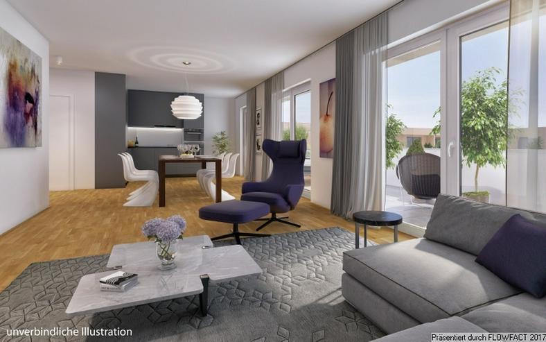 Bild 5: Sang ONE - 3-Zimmer-Penthousewohnung mit ca. 50 m² sonnigem Wohn-/Ess-/Kochbereich und gr...