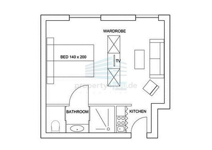 Bild 4: 1,5-Zimmer Apartment in München-Nymphenburg / Neuhausen
