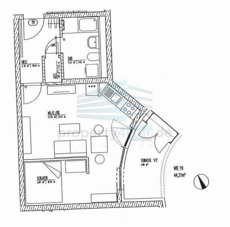 Bild 6: Exklusiv eingerichtetes Lifestyle-Apartment mit Terrasse und Stellplatz in München - Pasi...
