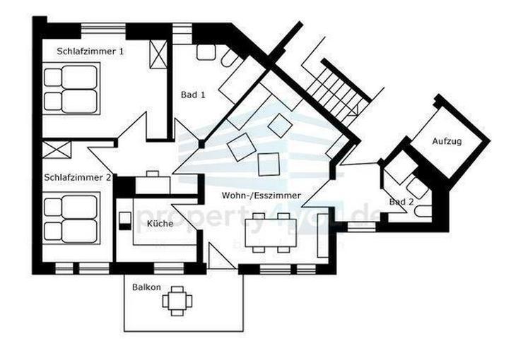 Bild 2: Moderne, sehr stilvoll eingerichtete, helle 3 Zimmer Wohnung, Neuhausen-Nymphenburg