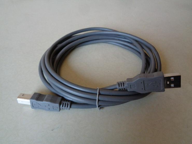 Bild 2: USB-Drucker-Scanner-Kabel 3m Kontakte vergoldet