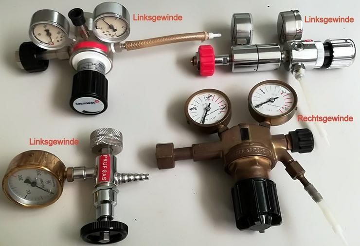 4 Stk Gas-Druckminderer mit Links- und Recht