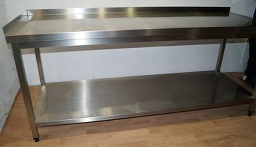 edelstahltisch gastro k chentisch 220x85x70cm in winterlingen baden w rttemberg auf. Black Bedroom Furniture Sets. Home Design Ideas