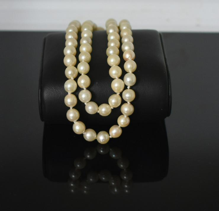 Perlenkette-Akoya Verschluss 333er Gelbgold