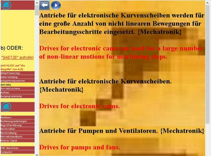 Stichwoerter-Suche: englisch Mechatronik-Saetze - Wörterbücher - Bild 1