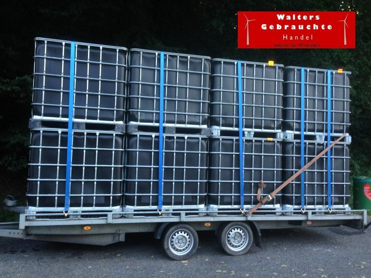 1000 l schwarz Wasserbehälter Tonne Fass