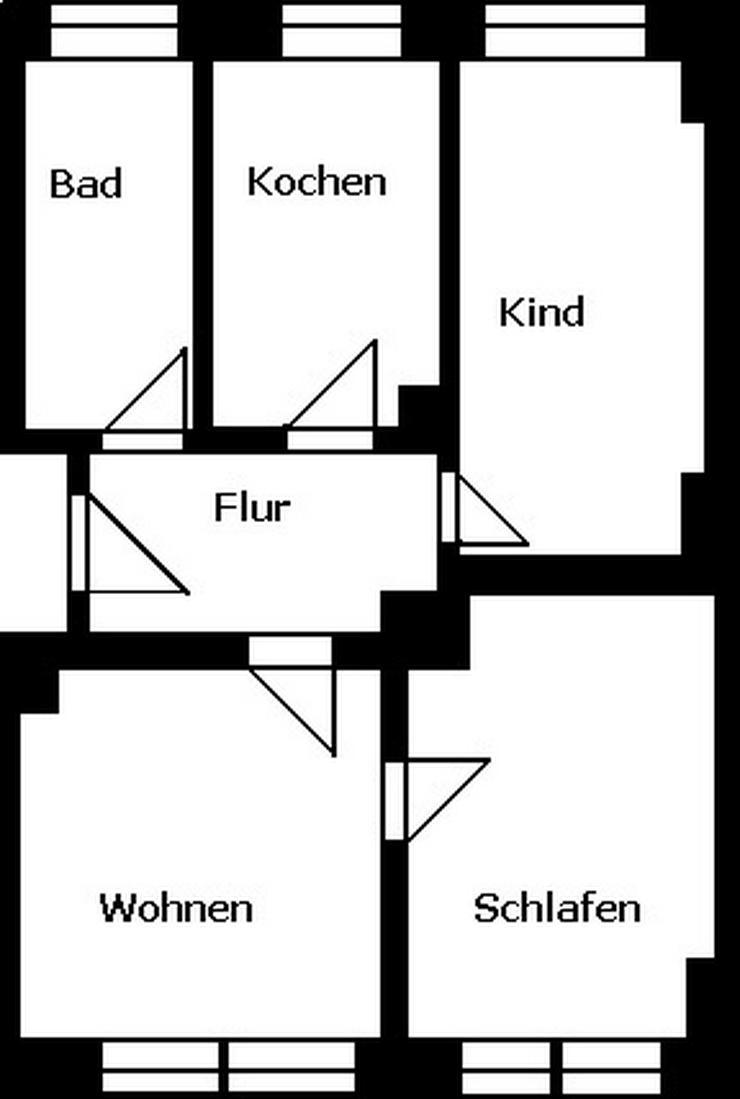 Bild 2: 3-Raum-Wohnung - Erstbezug nach Sanierung!