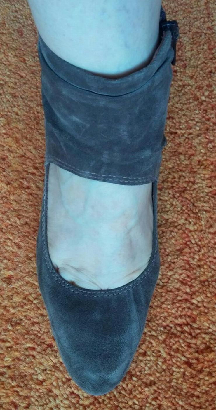 Bild 2: Damen Schuhe Samt Leder Pumps Gr.38 Tamaris