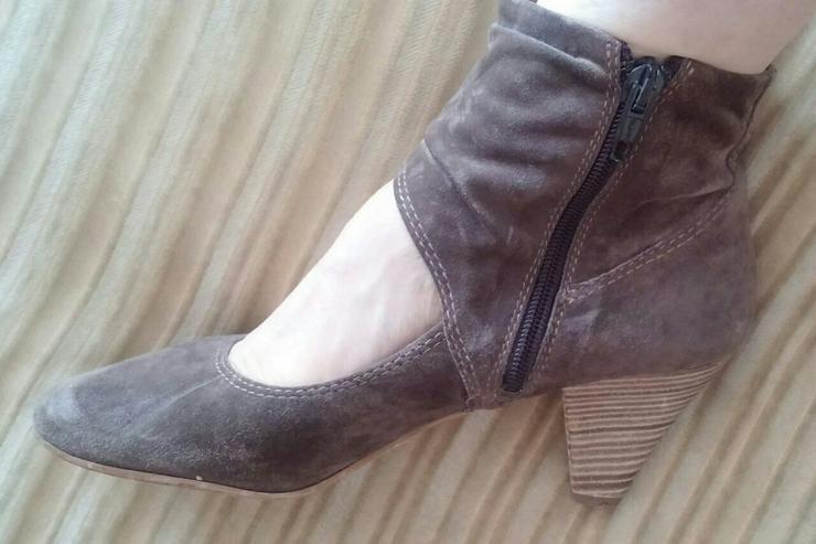Bild 3: Damen Schuhe Samt Leder Pumps Gr.38 Tamaris