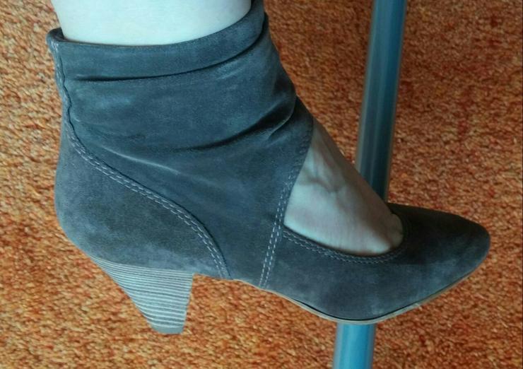 Bild 4: Damen Schuhe Samt Leder Pumps Gr.38 Tamaris