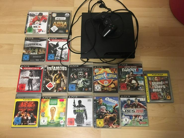 PlayStation 3 mit 17(+2) Spiele + Controller - Bild 1