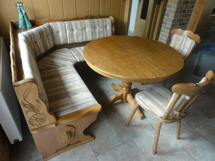 Essecke, mit Eckbank,Esstisch und 2 Stühlen