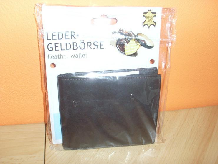 NEU: Herren Ledergeldbörse ECHT LEDER schwarz
