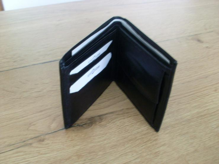 Bild 3: NEU: Herren Ledergeldbörse ECHT LEDER schwarz