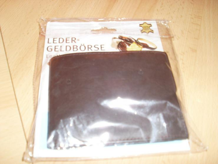 Bild 5: NEU: Herren Ledergeldbörse ECHT LEDER schwarz