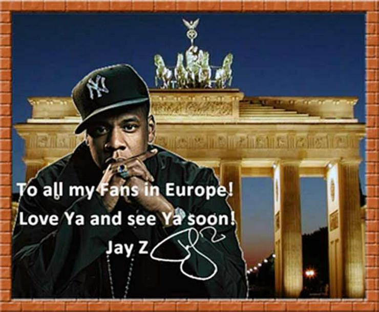 Bild 2: Rapper JAY Z: Wandbild aus Berlin!