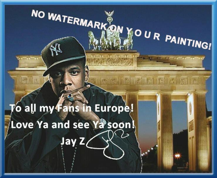 Bild 6: Rapper JAY Z: Wandbild aus Berlin!