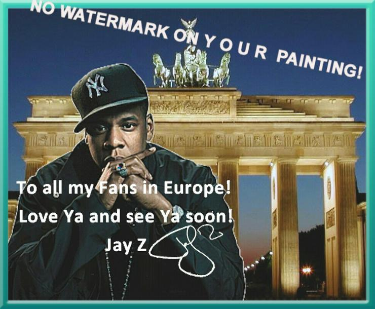 Bild 3: Rapper JAY Z: Wandbild aus Berlin!