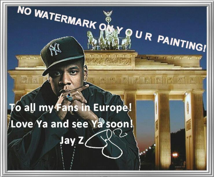 Bild 5: Rapper JAY Z: Wandbild aus Berlin!