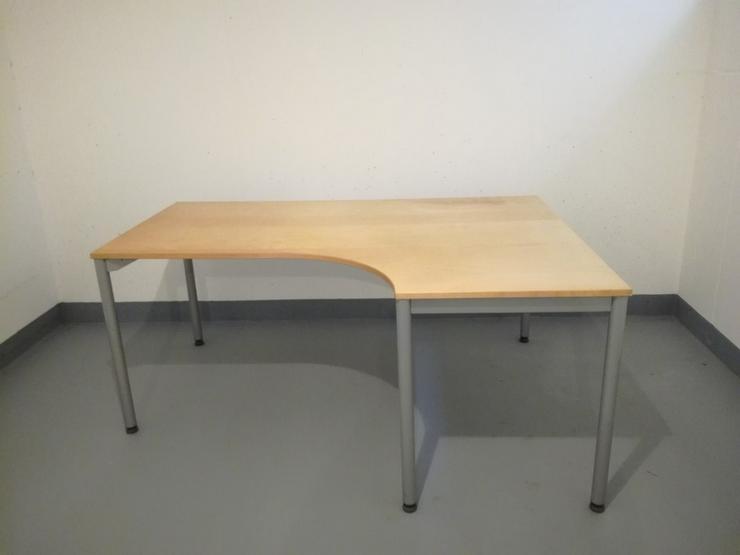 Schreibtisch mit Holzplatte, VB