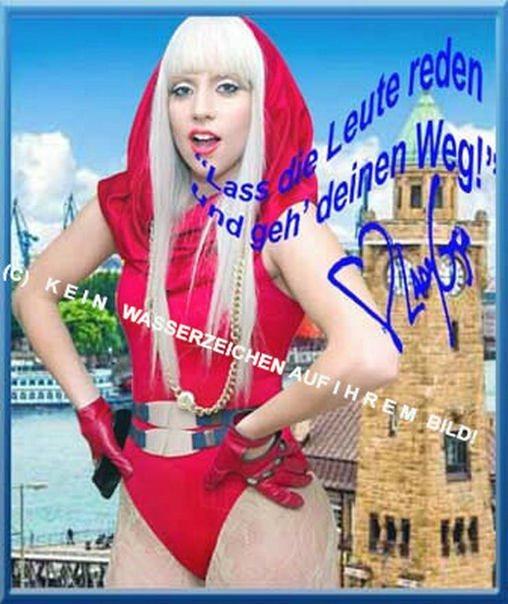 LADY GAGA Wandbild aus Hamburg mit Autogramm - Weitere - Bild 1