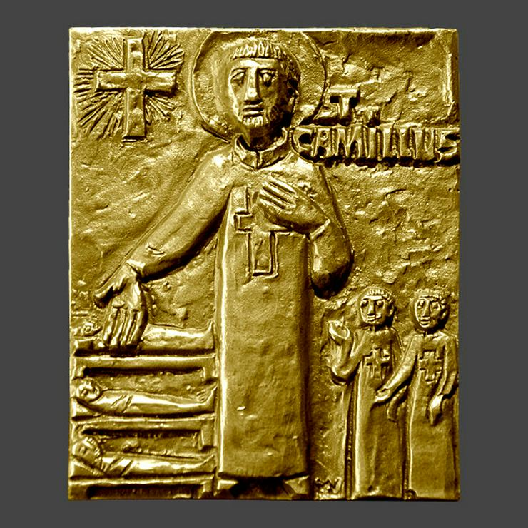 Bronze-Tafel-Namenspatron-Camilus - Metallbilder - Bild 1