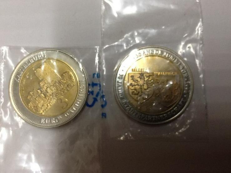 3 €uro-Münze von 1996-zu Testzwecken-