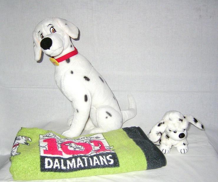 dalmatiner perdy von disney und badehandtuch