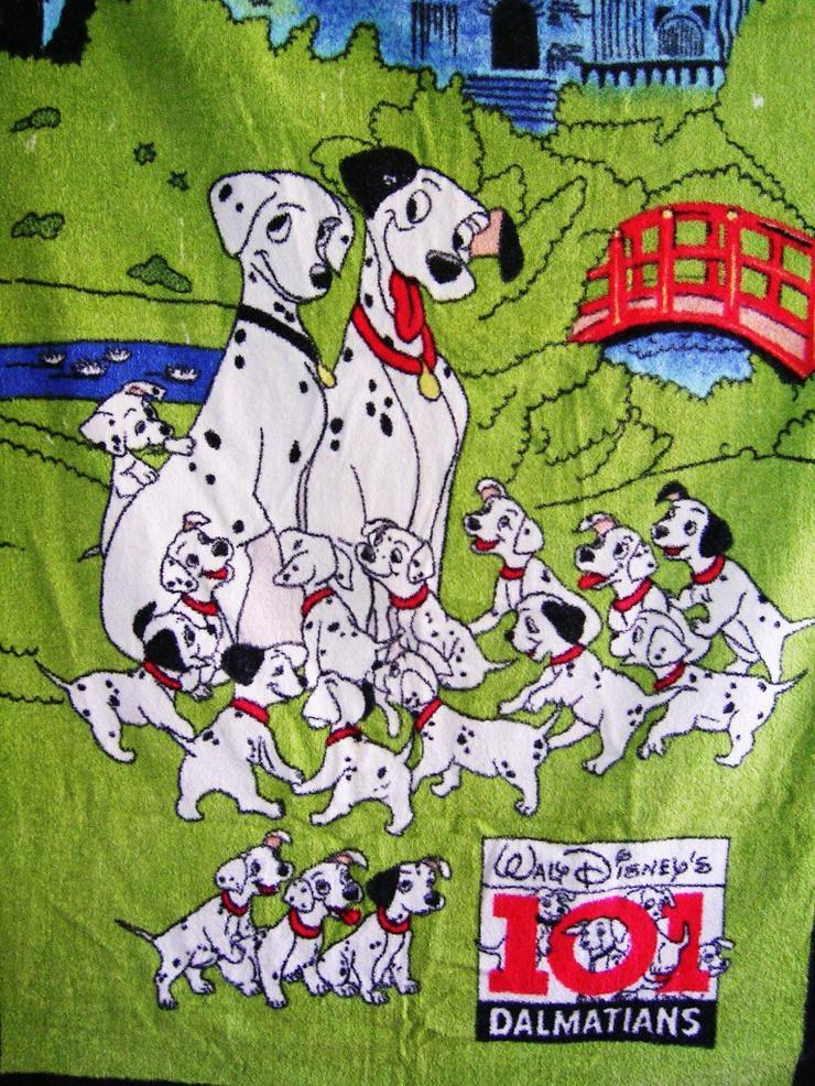 Bild 2: Dalmatiner Pongo von Disney und Badehandtuch