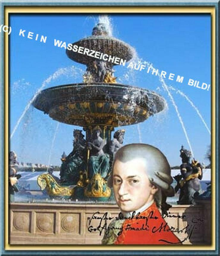Mozart in Paris! Romantisches Wandbild