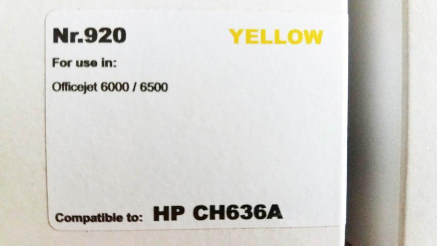 Bild 2: Drucker - Patronen Ink Cartridge HP 920 Officejet 4 Stück