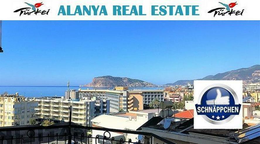 Günstiges voll möbliertes Penthaus in Alanya mit Panorama Meerblick und Pool - Wohnung kaufen - Bild 1
