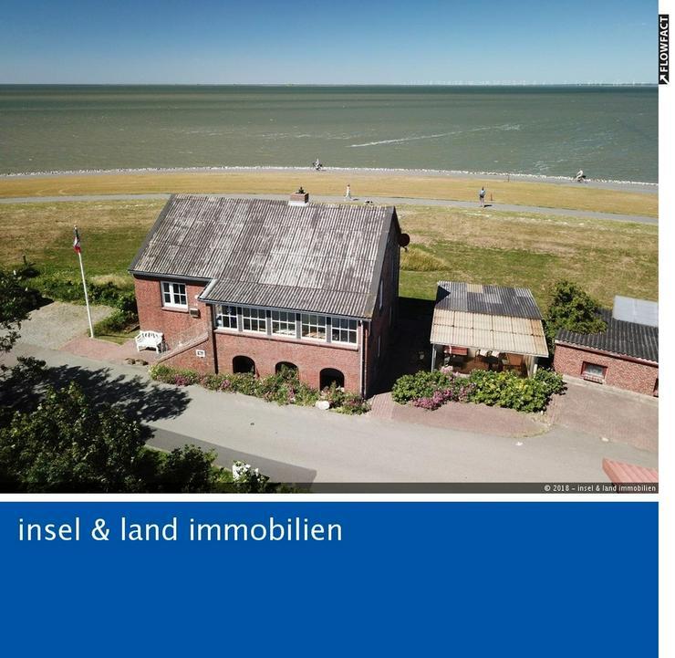 Einzigartiges Ferienhaus direkt auf dem Nordseedeich mit Meerblick